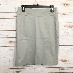 Loft Light Gray Back Pleat Career Office Skirt